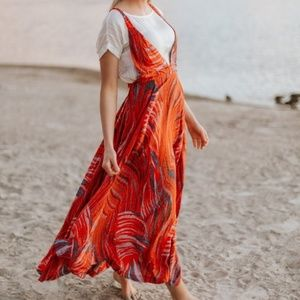 Free People Red A Thousand Kisses Maxi Dress